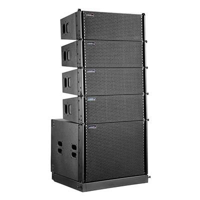 双8寸有源线性阵列音箱。钕磁ST-8A
